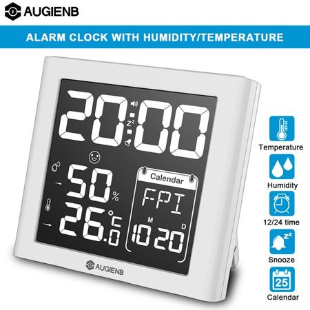 Digoo Wireless Weather Station LED Screen Wireless Weather Forecast Station Back-light Time Date Display Humidity Temperature Meter Monitor Thermometer Hygrometer