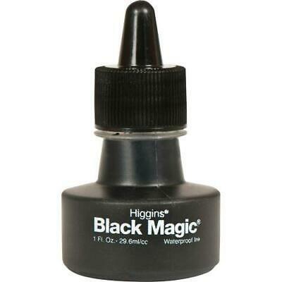 2PK Higgins Black Magic Waterproof Ink - Black 1 fl oz Ink - 1 / Each Higgins Black Magic Ink
