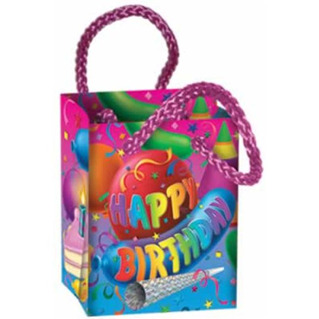Beistle 50872 - Happy Birthday Mini Gift Bag Party Favors- Pack of 12