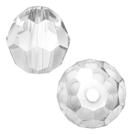 Swarovski Crystal, #5000 Round Beads 4mm, 12 Pieces, Crystal