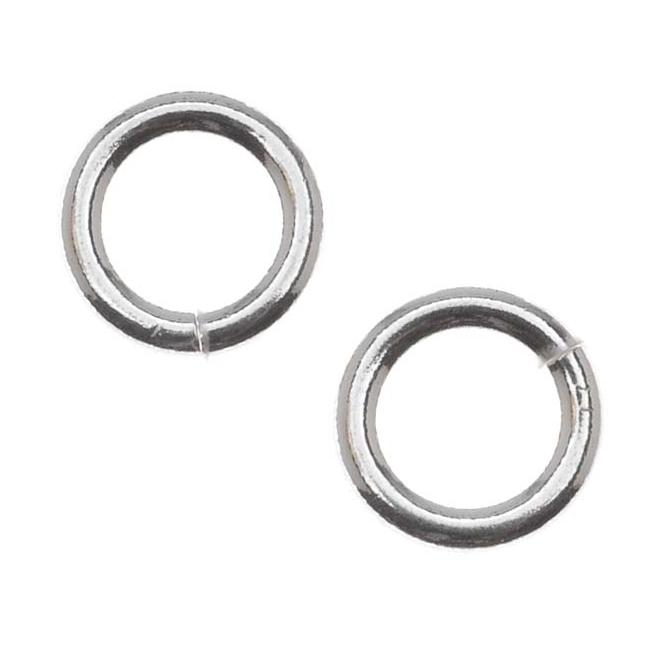 Sterling Silver Heavy 8mm Open Jump Rings 14 Gauge (4)