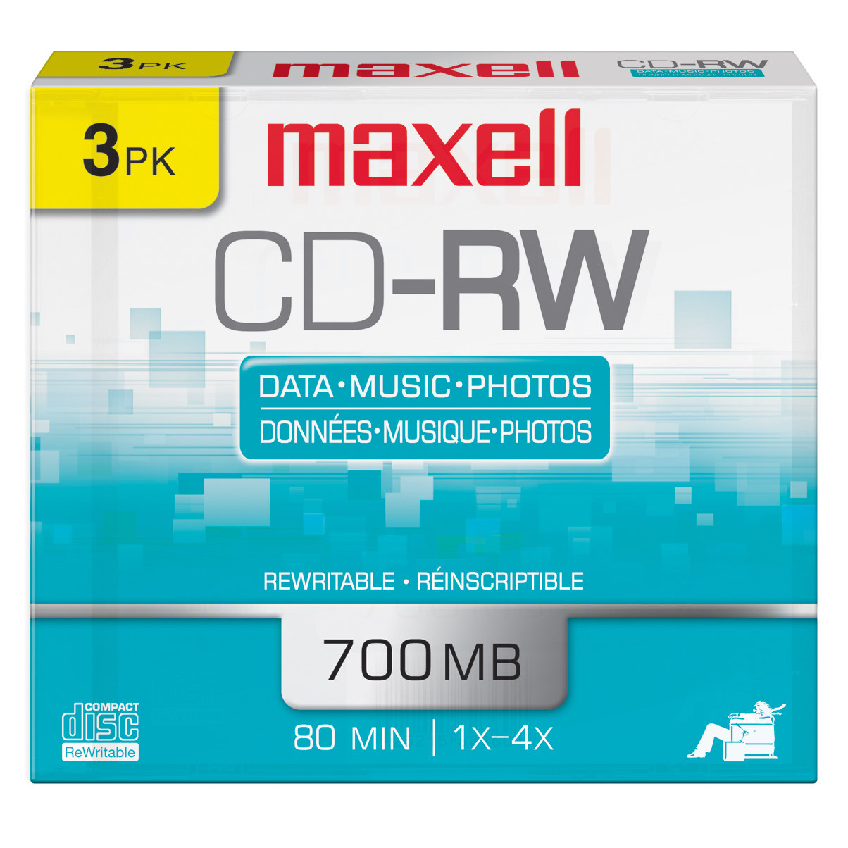 Maxell  630030 80-Minute/700 MB CD-RWs (Pack of 3)