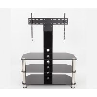 AVF Classic Corner Glass Pedestal TV Stand for up to 60""