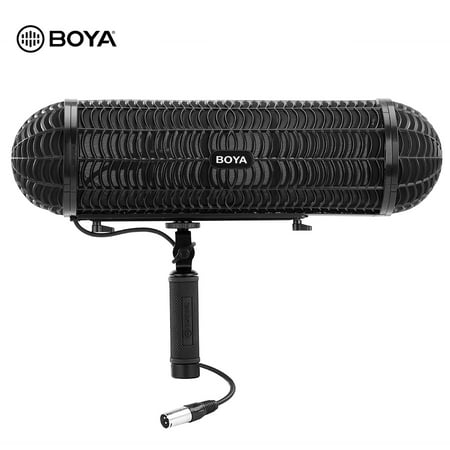 BOYA BY-WS1000 Microphone Blimp Windshield Suspension System with XLR Cable for 20-22mm Diameter Shotgun Microphones for Canon Nikon Sony Camcorder