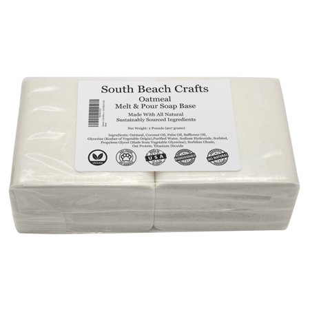 - Oatmeal - 2 Lbs Melt and Pour Soap Base - South Beach Crafts