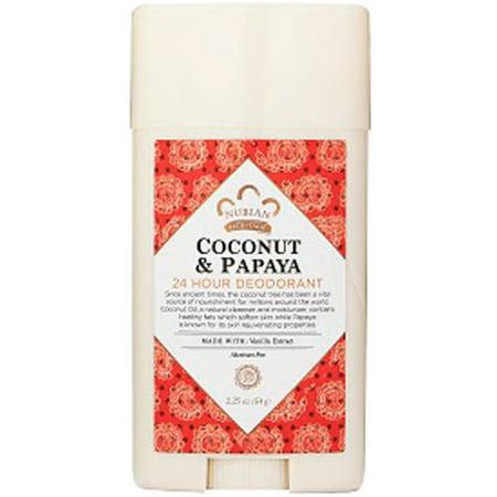Nubian Heritage Coconut & Papaya 24-Hour Deodorant, 2.25 oz