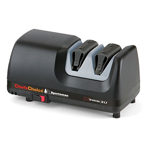 Chef's Choice M317 Sportsman Extreme 2 Stage Straight and Serrated Edge Diamond Hone Knife Sharpener by Chef's Choice