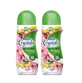 (2 Pack) Purex Crystals In-Wash Fragrance Booster, Cherry Blossom & Ginger, 15.5 Ounce