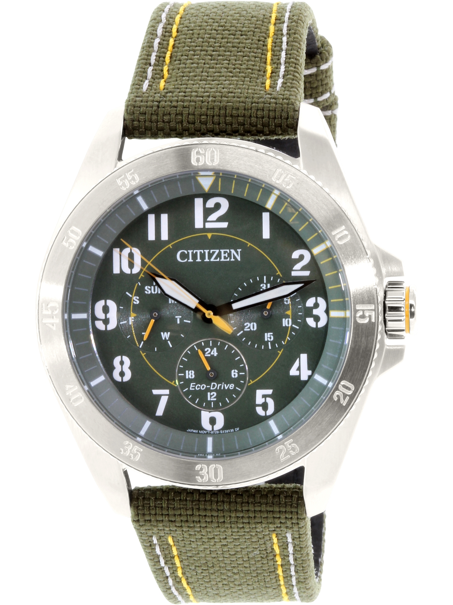Citizen Men's Eco-Drive BU2030-09W Green Metal Japanese Quartz Fashion Watch