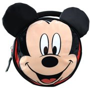 Lunch Bag - Disney - Mickey Mouse - Shiny PVC Round Ears & Bow New RKLU