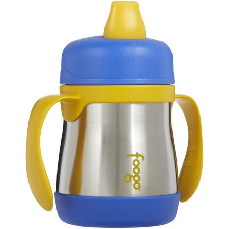 THERMOS FOOGO 7OZ SIPPY CUP W/ HANDLES BLUE/YELLOW