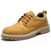 Meigar Men's Oxford Work Boots Winter Warm Shoes Plush Lining