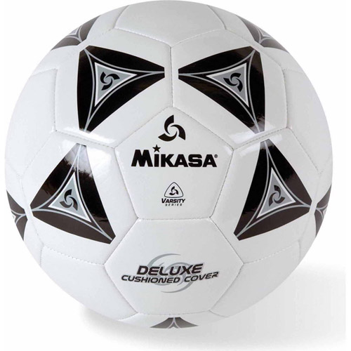 Mikasa Soft Soccer Ball, Size 4, Black White by S&S
