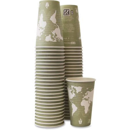 Eco-Products, ECOEPBHC16WAPK, Renewable Resource Hot Drink Cups, 50 / Pack, - Trophy Xl Hot Cups