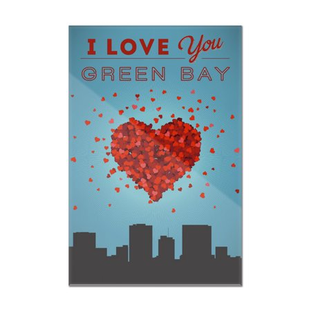 I Love You Green Bay, Wisconsin - Lantern Press Artwork (8x12 Acrylic Wall Art Gallery Quality) Acrylic Low Bay Lights