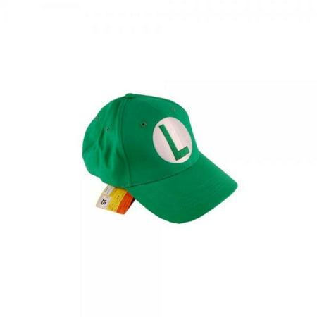 5b4f8568e Super Mario Brothers Luigi Green Baseball Cap - Walmart.com
