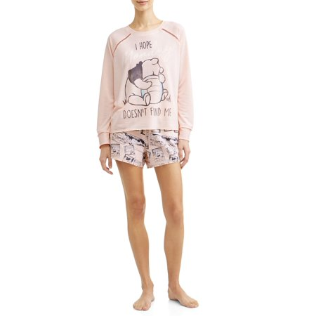 Disney Women's and Women's Plus Winnie the Pooh Pajama Set