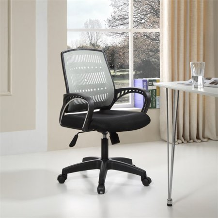 Pemberly Row Adjustable Height Swivel Task Chair in Gray - image 4 of 5