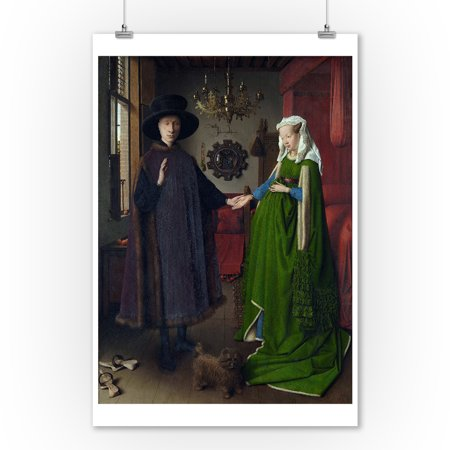 - The Arnolfini Portrait - (Artist: Jan van Eyck c.1434) - Masterpiece Classic (9x12 Art Print, Wall Decor Travel Poster)
