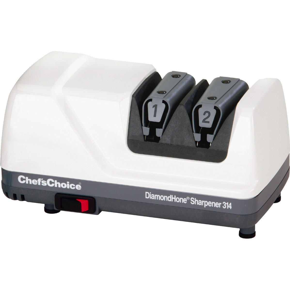 Click here to buy Chefs Choice M314 Diamond UltraHone Electric 2-stage Knife Sharpener.