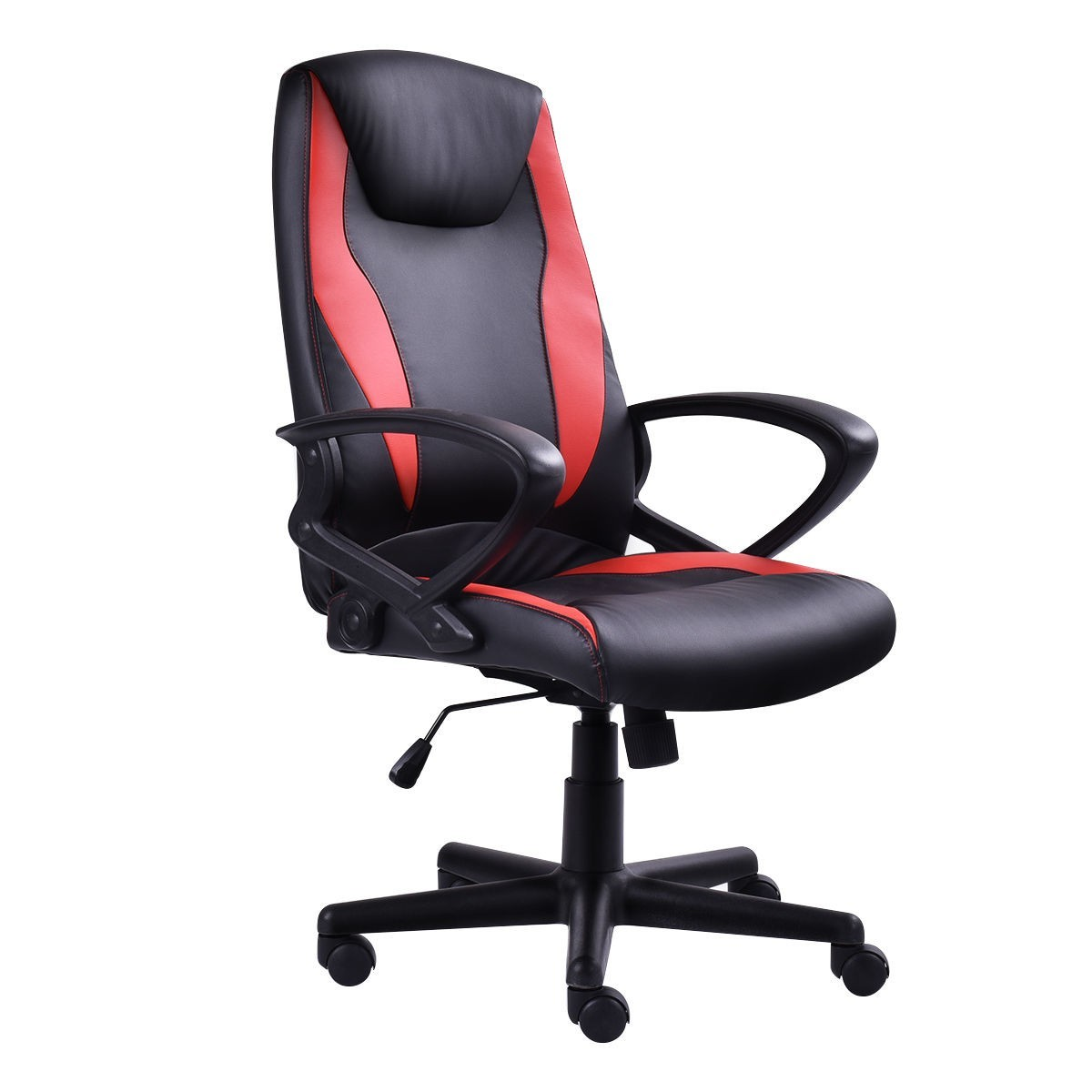 High-back Racing Style Gaming Chair with Head-Supported Pillow