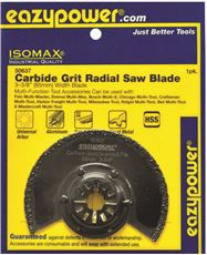 Eazypower 50637 Eazypower Oscillating Carbide Grit Radial Saw Blade, 3-3 8 In. (Pack Of 2) by Eazypower