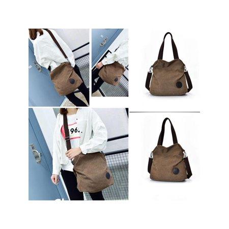 9905f11f91d5 Woman Vintage Canvas Bags Lady Large Capacity Single Shoulder Bag Female  Shoulder Bags HandBags Casual Tote Bag - Walmart.com