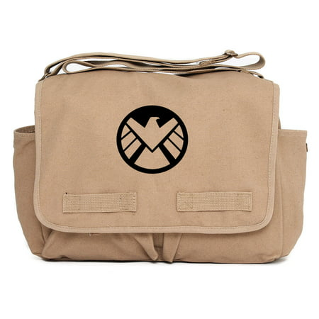 Marvel Agents of Shield Logo Durable Military School Book Laptop Messenger