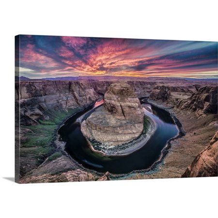 Great Big Canvas Scott Stulberg Premium Thick Wrap Canvas Entitled Colorful Sunset At Horseshoe Bend In Page  Arizona