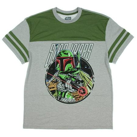 Star Wars Boba Fett men's  T-Shirt Grey/Green  (MEDIUM)  W60