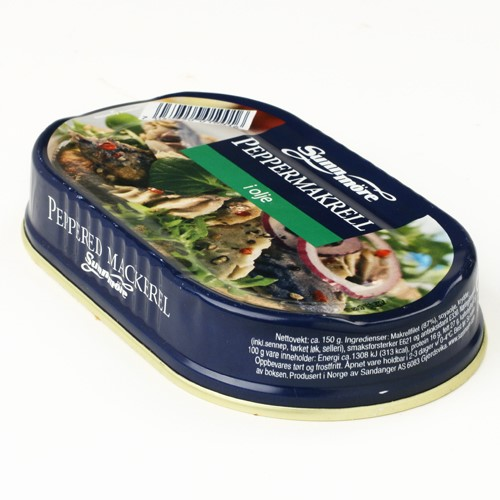 Peppered Mackerel in Oil by