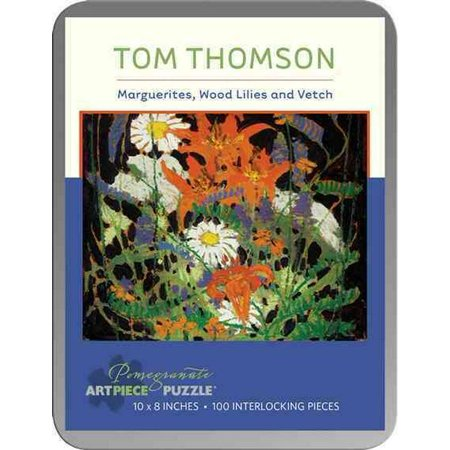 Tom Thomson: Marguerites Wood Lilies and Vetch 100-piece Jigsaw Puzzle (Lily And Tom)