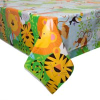 Animal Jungle Plastic Party Tablecloth, 84 x 54in
