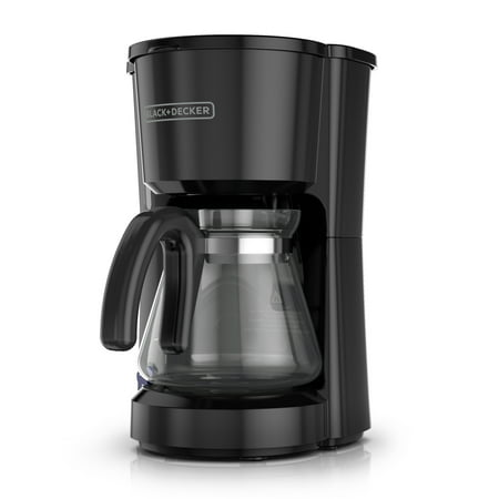 5-Cup Coffee Maker, Compact Design, Black,