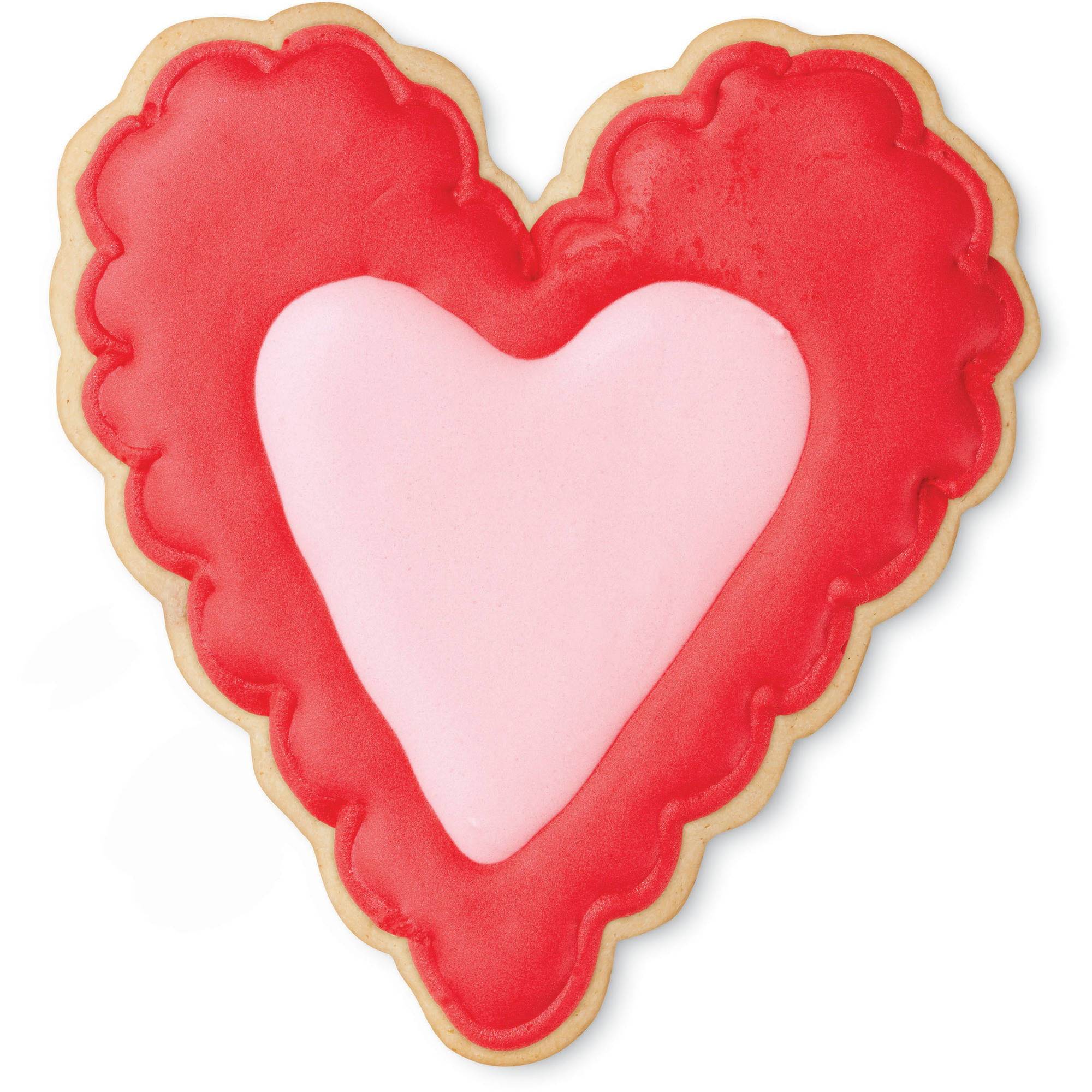 (4 Pack) Wilton Scalloped Heart Metal Cookie Cutter