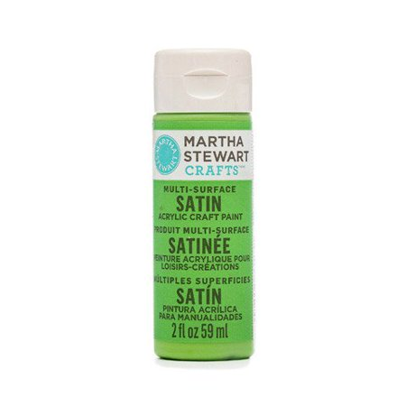 Martha Stewart Crafts Multi-Surface Satin Acrylic Paint: Snow Pea, 2 Oz