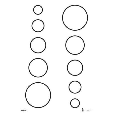 10 Pcs Of Military Varied Circle Training Target Size  23   X 35