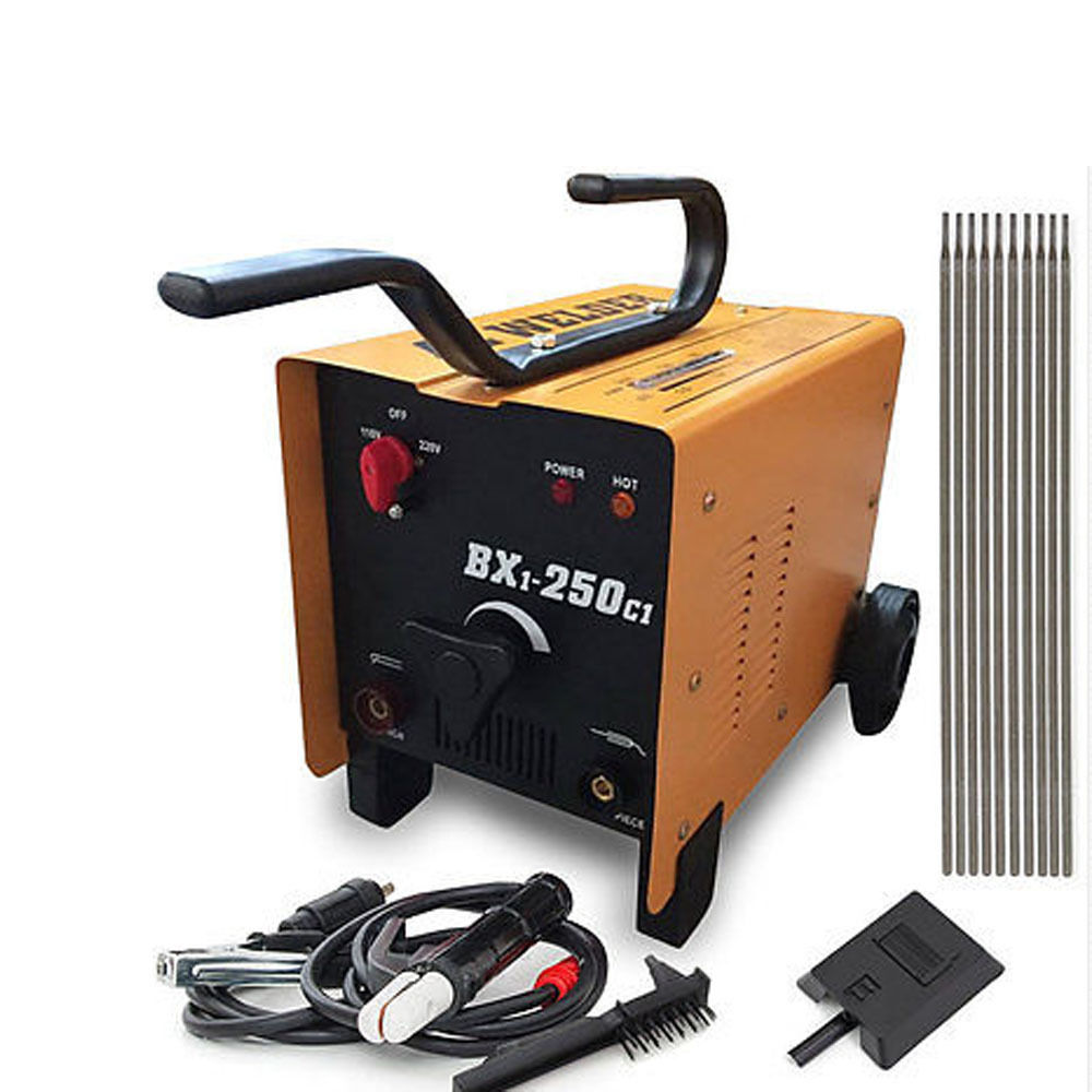 Zimtown ARC Stick Welder, Dual 110V/220V Voltage 250 Amp Welding Machine Include Accessories Set, AC Stick Rod Torch Electrode Tool, Feed Fan Automatic Cool
