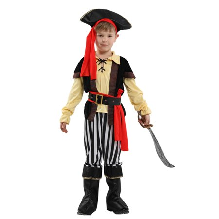 Pirate Outfit Diy (stylesilove Kid Boys Halloween Costume Cosplay Outfit Themed Birthdays Party (Impish Pirate Prince, M/4-6)