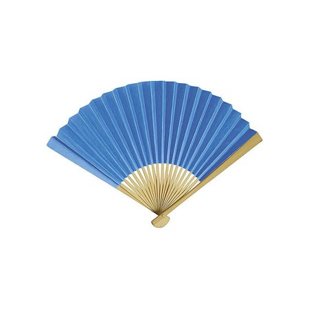 Handheld Folding Paper Fan (9-Inch, Cornflower Blue) - In the Style of Chinese, Japanese, Spanish Fans - For Personal Use, Weddings, and - Hand Held Paper Fans