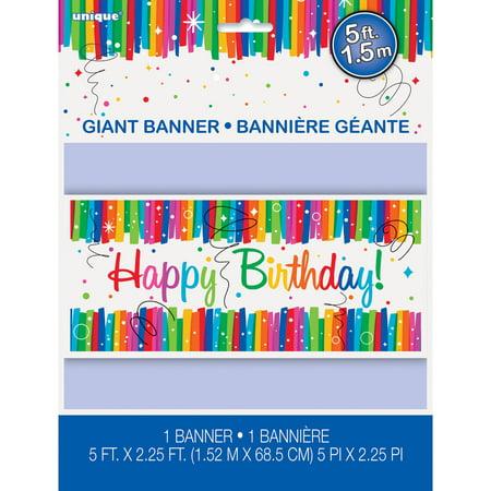 Rainbow Birthday Party Poster, 60