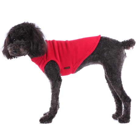Soft Stretchable Fleece Pullover Vest for Small and Big Dogs, Red, 2XL