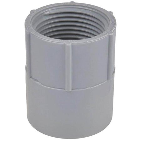 Carlon E942L-CAR Conduit Adapter, 3 in Rigid, Female Threaded X Socket, SCH 40, PVC Sch 40 Pvc Conduit