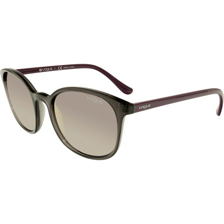Vogue Women's Mirrored VO5051S-19055R-52 Purple Butterfly (Womens Purple Oakley Sunglasses)