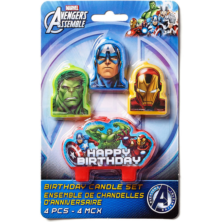 Marvel Avengers Birthday Candles, 4 Count, Party Supplies