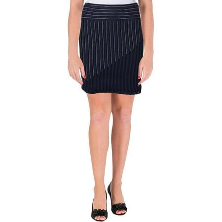 Rachel Rachel Roy Womens Tona Ribbed Above Knee Pencil Skirt