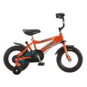 "12"" Schwinn Orange Grit Boys' Bike with Removable Push Handle"