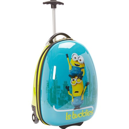 Travelpro Minions Kid's Hard Side Luggage, Blue/Yellow, One