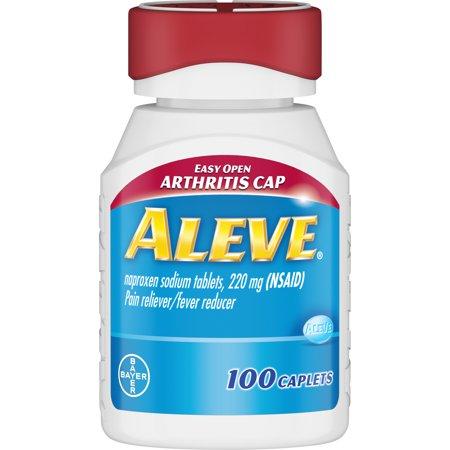 Aleve Easy Open Arthritis Cap Pain Reliever/Fever Reducer Naproxen Sodium Caplets, 220 mg, 100
