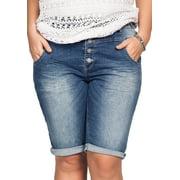 Ellos Plus Size Bermuda Denim Shorts